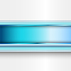Streszczenie niebieski banner | Stock Vector Graphics