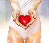 Czerwone serce w rękach | Stock Foto