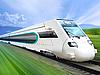 Schnellzug an der Eisenbahn | Stock Foto