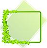 grüner Rahmen mit Kleeblättern