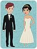 ID 3153009 | Pan młody i panna młoda | Klipart wektorowy | KLIPARTO