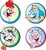 ID 3125960 | Kuh, Schwein, Huhn, Fisch | Stock Vektorgrafik | CLIPARTO