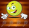 Lustiger lächelnder Tennisball