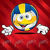 Lustiger lächelnder Volleyball