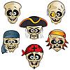 ID 3125998 | Piraci Skulls | Klipart wektorowy | KLIPARTO