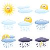 Set von Wetter-Icons