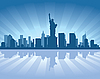Vector clipart: New York city skyline