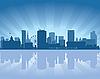 Skyline von Birmingham | Stock Vektrografik