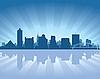 Vector clipart: Memphis skyline