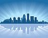 ID 3139148 | Skyline von Louisville | Stock Vektorgrafik | CLIPARTO