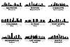 ID 3175900 | Skylines von Amerikanischen Städten | Stock Vektorgrafik | CLIPARTO