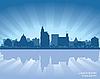 ID 3179095 | Jackson, Mississippi skyline | Klipart wektorowy | KLIPARTO