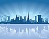 Bristol, England Skyline | Stock Vektrografik