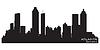 Atlanta, Georgia skyline. Szczegółowa sylwetka | Stock Vector Graphics