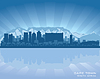Vector clipart: Cape Town, South Africa skyline