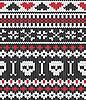 Strick-Muster mit Totenköpfen