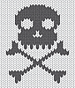 Knitted background with skull | Stock Vector Graphics