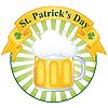 Векторный клипарт: кружка пива на день Св. Патрика
