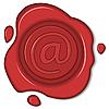 ID 3184167 | Wachs-Siegel mit E-Mail-Zeichen | Stock Vektorgrafik | CLIPARTO
