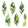 Set von Hand gezeichneten Blätter