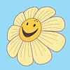 ID 3349977 | Daisy with a smile. | Klipart wektorowy | KLIPARTO
