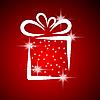 Weihnachtskarte mit Geschenk-Box | Stock Vektrografik