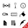 Set von Icons - Auto-Teilen