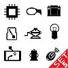 ID 3207914 | Set von Icons mit Auto-Teilen | Stock Vektorgrafik | CLIPARTO