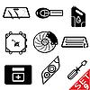 Set von Icons mit Auto-Teilen | Stock Vektrografik
