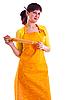 ID 3137686 | Hausfrau mit dem Nudelholz | Foto mit hoher Auflösung | CLIPARTO
