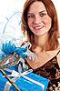Młoda kobieta w karnawałowe maski | Stock Foto