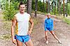 ID 3134105 | Sportler. Der junge Mann und das Mädchen | Foto mit hoher Auflösung | CLIPARTO