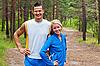 ID 3134107 | Sportler. Der junge Mann und das Mädchen | Foto mit hoher Auflösung | CLIPARTO