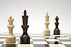 ID 3135740 | Schach-Dame und König - interrassisches Ehe-Konzept | Foto mit hoher Auflösung | CLIPARTO