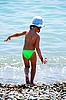 Dziecko i morze | Stock Foto