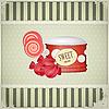Vintage-Postkarte - Süßigkeiten