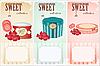 Süße Sammlung - Preisschilde | Stock Vektrografik