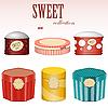ID 3154993 | Pudełka cukierków z etykietami | Klipart wektorowy | KLIPARTO