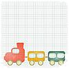 Retro-Hintergrund mit Spielzeug-Zug