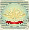 Vintage-Label mit Weizenähren