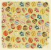 Easter Eggs - alte Ostern Hintergrund im Vintage-Stil