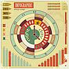 Infografik, Vintage-Elemente - Arbeitszeit-Konzept