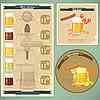 Vintage-Menü - Bier und Imbisse