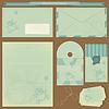 Retro-Briefumschläge und Postkarten | Stock Vektrografik