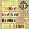 Set von VIntage-Infografiken - Bier-Icons