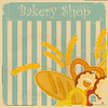 Vintage menu pokrycie Bakery | Stock Vector Graphics
