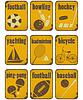 Sport-Grunge-Zeichen