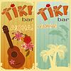 zwei Karten für die Tiki-Bars
