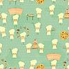 Nahtlose Hintergrund mit Fun Food-Chefs