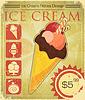 Design Eiscreme-Preis im Grunge-Stil